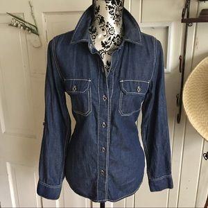 Seven 7 Shirt - M denim 💯 cotton